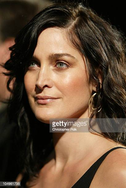 CarrieAnne Moss during The Matrix Reloaded DVD Release Party Arrivals at Morton's Resturant in West Hollywood California United States