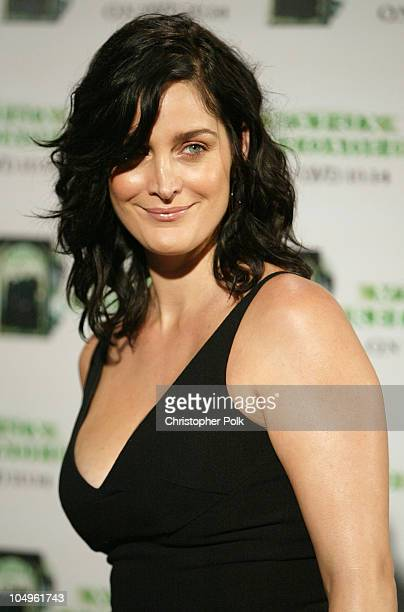 CarrieAnne Moss during 'The Matrix Reloaded' DVD Release Party Arrivals at Morton's Resturant in West Hollywood California United States