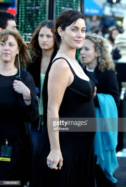 CarrieAnne Moss during The Matrix Reloaded Premiere at Mann Village Theater in Westwood California United States