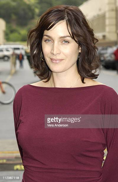 CarrieAnne Moss during 'The Matrix Reloaded' Press Conference with Keanu Reeves Jada Pinkett Smith CarrieAnne Moss Laurence Fishburne Monica Bellucci...