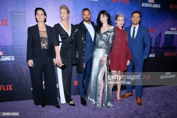 CarrieAnne Moss Janet McTeer Eka Darville Krysten Ritter Melissa Rosenberg Rachael Taylor and JR Ramirez attend the Jessica Jones Season 2 New York...