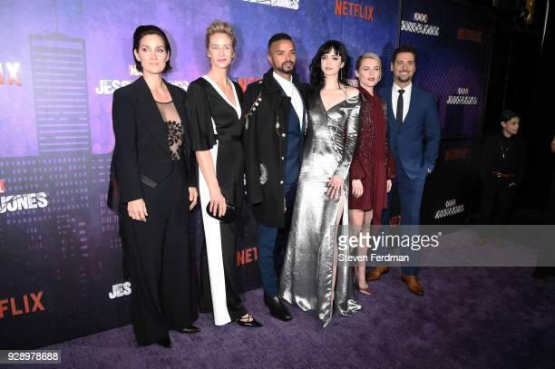 CarrieAnne Moss Janet McTeer Eka Darville Krysten Ritter Melissa Rosenberg Rachael Taylor and JR Ramirez attend Jessica Jones Season 2 New York...