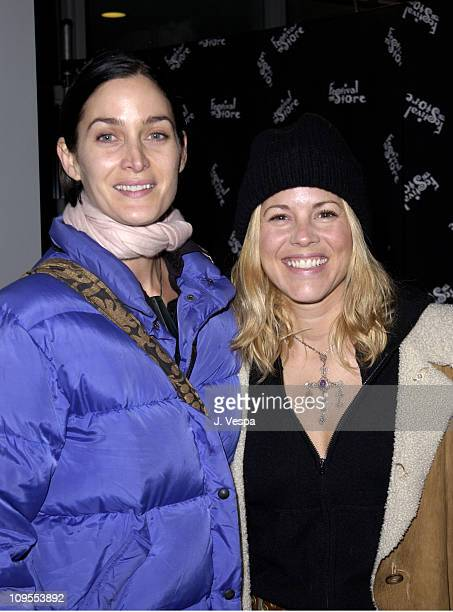 CarrieAnne Moss Maria Bello during 2002 Sundance Film Festival 'The Good Girl' Premiere at Eccles Center For The Performing Arts in Park City Utah...