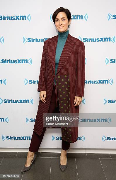 CarrieAnne Moss visits at SiriusXM Studios on November 18 2015 in New York City