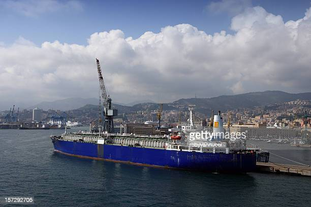 LNG carrier ship (designed for transporting natural gas) Genova,Italy
