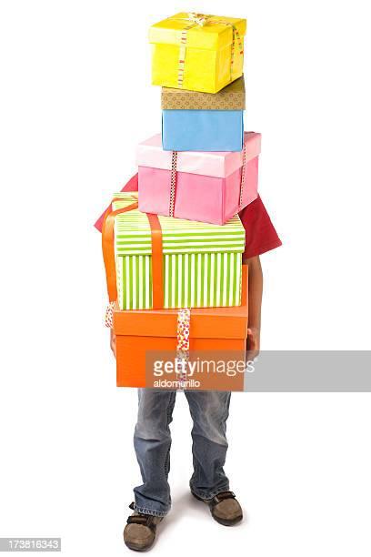 Carring un montón de regalos