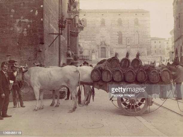 Carro con buoi, Perugia, 1880s. Artist James Anderson.
