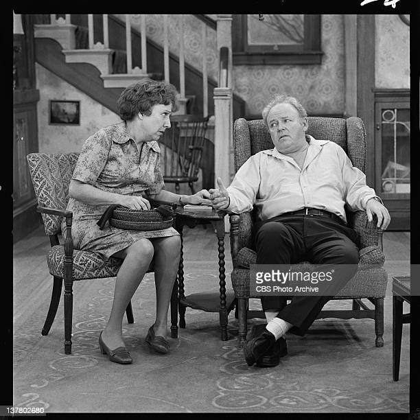 """Carroll O'Connor as Archie Bunker and Jean Stapleton as Edith Bunker in """"Everybody Does It"""". Image dated January 17, 1975."""