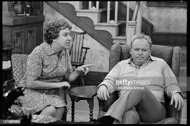 Carroll O'Connor as Archie Bunker and Jean Stapleton as Edith Bunker. November 6, 1973.