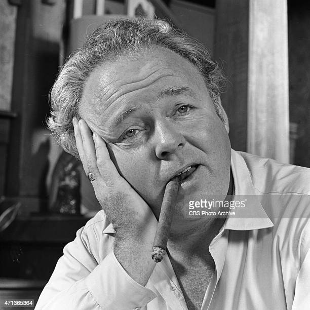 """Carroll O'Connor as Archie Bunker in """"All In The Family."""" Image dated October 26, 1971."""