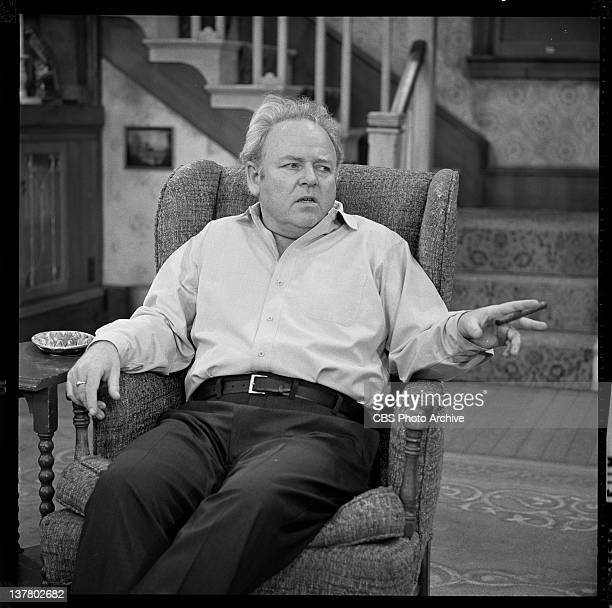 """Carroll O'Connor as Archie Bunker in """"George and Archie Make A Deal"""". Image dated November 19, 1974."""
