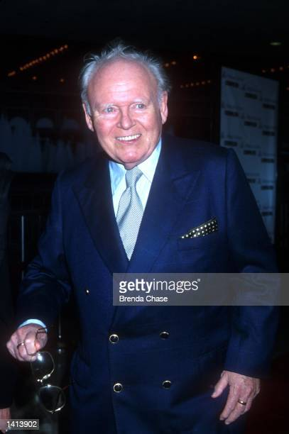 """Carroll O''Connor attends the Los Angeles premiere of the new movie """"Return to Me"""" in Century City, California, April 3, 2000."""