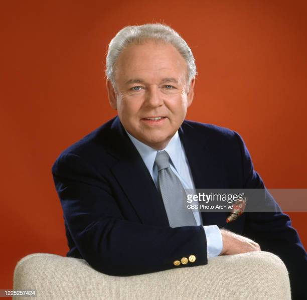 Carroll O'Connor portrays Archie Bunker on the TV sitcom, ARCHIE BUNKER'S PLACE. Image dated April 1, 1982.