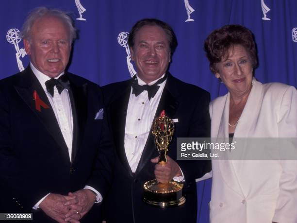 Carroll O'Connor Rip Torn and actress Jean Stapleton attend 47th Annual Primetime Emmy Awards on September 8 1996 at the Pasadena Civic Auditorium in...