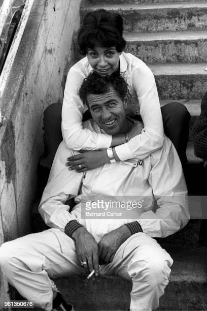 Carroll Shelby, 24 Hours of Le Mans, Le Mans, 21 June 1959. Carroll Shelby and an unknown lady, Le Mans 1959.