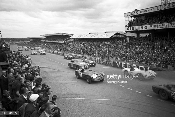 Carroll Shelby, Aston Martin DB3S, 24 Hours of Le Mans, Le Mans, 13 June 1954. Carroll Shelby in the number 22 Aston Martin DB3S in his first Le Mans...