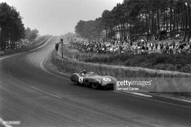 Carroll Shelby, Aston Martin DBR1, 24 Hours of Le Mans, Le Mans, 21 June 1959. Carroll Shelby on the way to victory in the 1959 24 Hours of Le Mans...