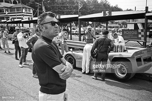 Carroll Shelby attends the Road America CanAm on September 1, 1968 in Elkhart Lake, Wisconsin.