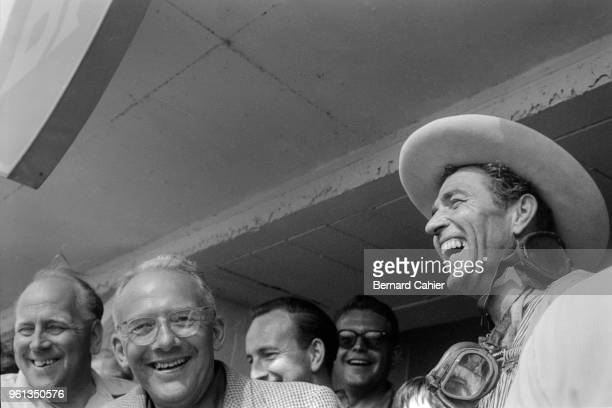 Carroll Shelby, David Brown, Reg Parnell, 24 Hours of Le Mans, Le Mans, 21 June 1959. A happy Carroll Shelby in the pits near the end of his...