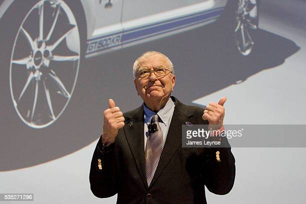 Carroll Shelby, designer of the legendary Shelby Cobra Ford Mustang, at the New York International Auto Show where Ford unveiled the 2008 Shelby...