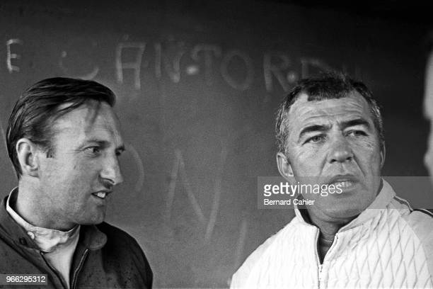 Carroll Shelby, Jack Sears, 24 Hours of Le Mans, Le Mans, 20 June 1965. Carroll Shelby with Cobra driver Jack Sears during the 1965 24 Hours of Le...