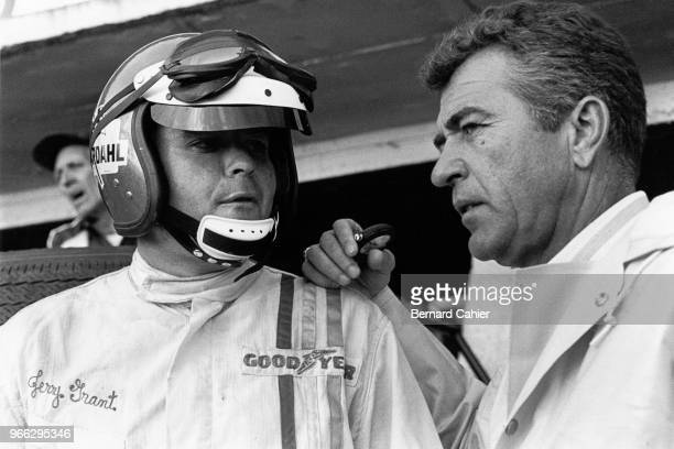 Carroll Shelby, Jerry Grant, 24 Hours of Le Mans, Le Mans, 19 June 1966. Jerry Grant with Carroll Shelby during the 1966 24 Hours of Le Mans.