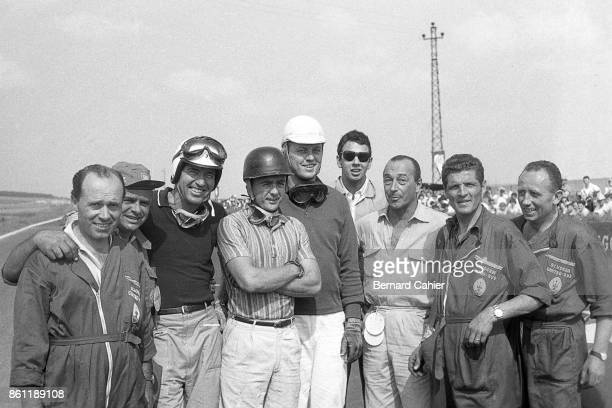 Carroll Shelby Phil Hill Troy Ruttman Mimmo Dei Grand Prix of France ReimsGueux 06 July 1958 Phil Hill in his first ever Formula 1 Grand Prix the...