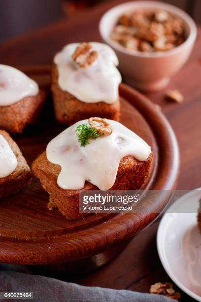 carrot cake - marzipan stock pictures, royalty-free photos & images