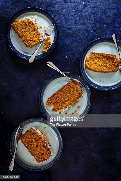 Carrot Cardamom Cake with Cream Cheese Frosting and toasted almonds
