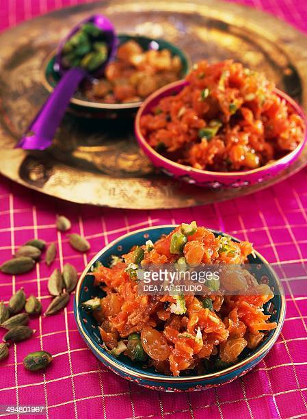 Carrot halwa dessert made from carrots cooked in milk India