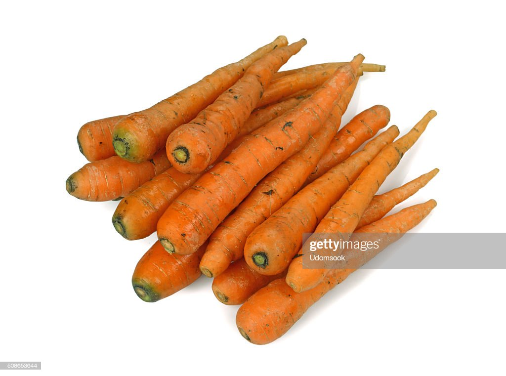 carrot isolated on white background : Stock Photo