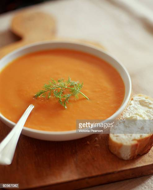 carrot soup - soup stock pictures, royalty-free photos & images