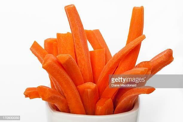 Carrot sticks ready for eating