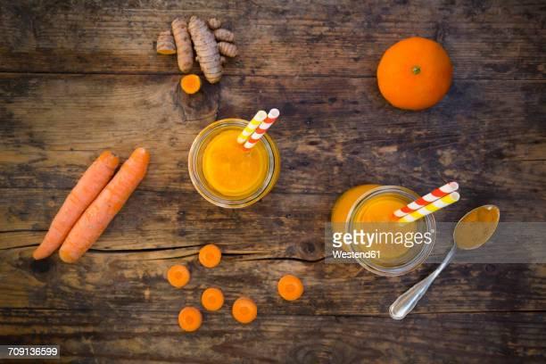 Carrot tangerine Smoothie with curcuma
