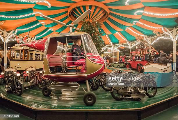 Carrousel at Christmas Market