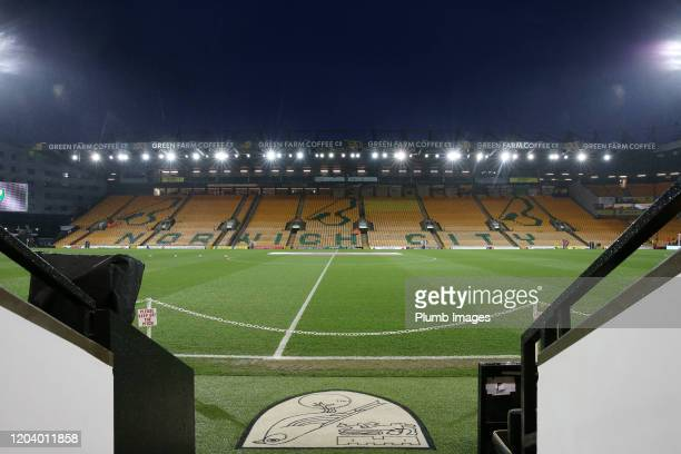 Carrow Road ahead of the Premier League match between Norwich City and Leicester City at Carrow Road on February 28, 2020 in Norwich, United Kingdom.
