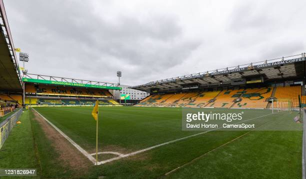 Carrow Road - home of Norwich City FC - ground view during the Sky Bet Championship match between Norwich City and Blackburn Rovers at Carrow Road on...