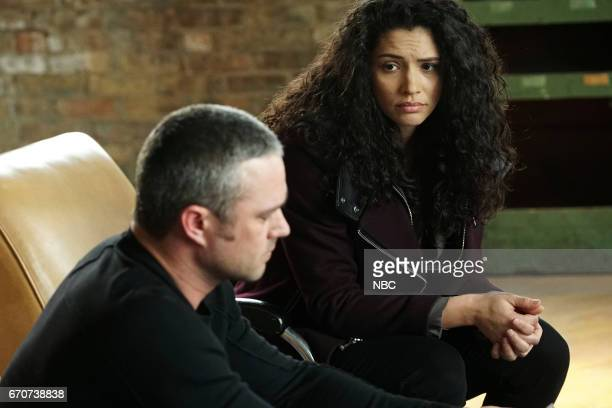 FIRE Carry Me Episode 520 Pictured Taylor Kinney as Kelly Severide Miranda Rae Mayo as Stella Kidd