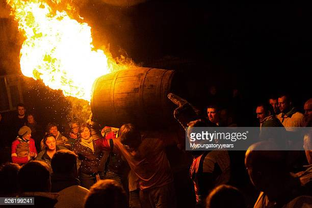 carrying fire - guy fawkes stock photos and pictures