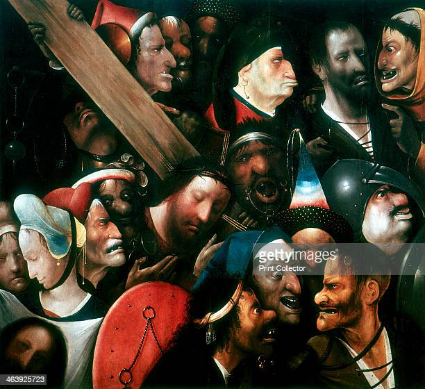 'Carrying the Cross' c14801516 Christ on the road to Calvary surrounded by a crowd of gruesomefaced figures