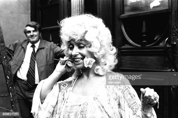 Carry-on actress Barbara Windsor outside the Threatre Royal, Newcastle, on 7th August 1980 where she is appearing in the pantomime Jack and the...