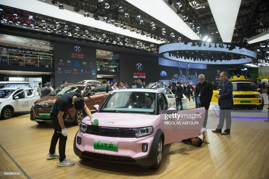 Cars Are Display By The Baic Group During The Beijing Auto Show In