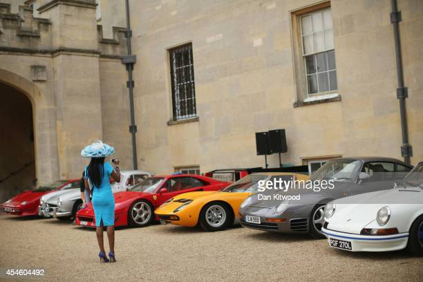Cars are displayed at the 'Salon Prive' event at Syon Park stately home on September 4, 2014 in London, England. Now in its 9th consecutive year, the...