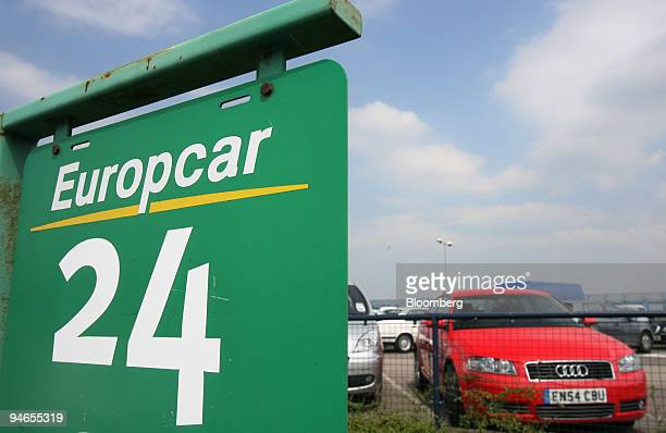 Cars are parked in a Europcar rental lot at London City Airport in London UK Friday July 21 2006 Hertz Europe Ltd and Europcar Groupe SA plan to sell...