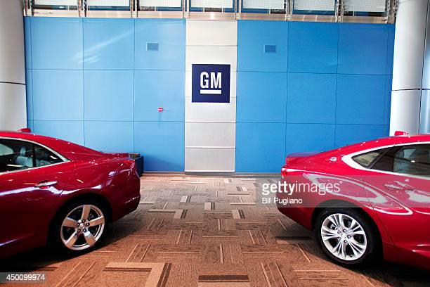 Cars are parked inside of the General Motors Technical Center as General Motors Chief Executive Officer Mary Barra holds a press conference on June 5...