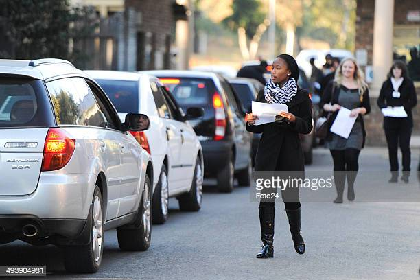 Cars are searched at the entrance of Weskoppies Psychiatric Hospital on May 26 2014 in Pretoria South Africa Oscar Pistorius has been ordered by the...