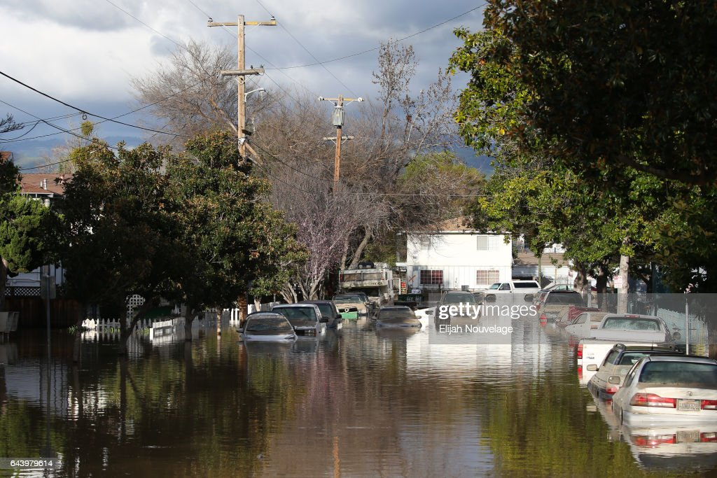 Flooding In San Jose, California Forces Evacuation Of Over 10,000 : News Photo