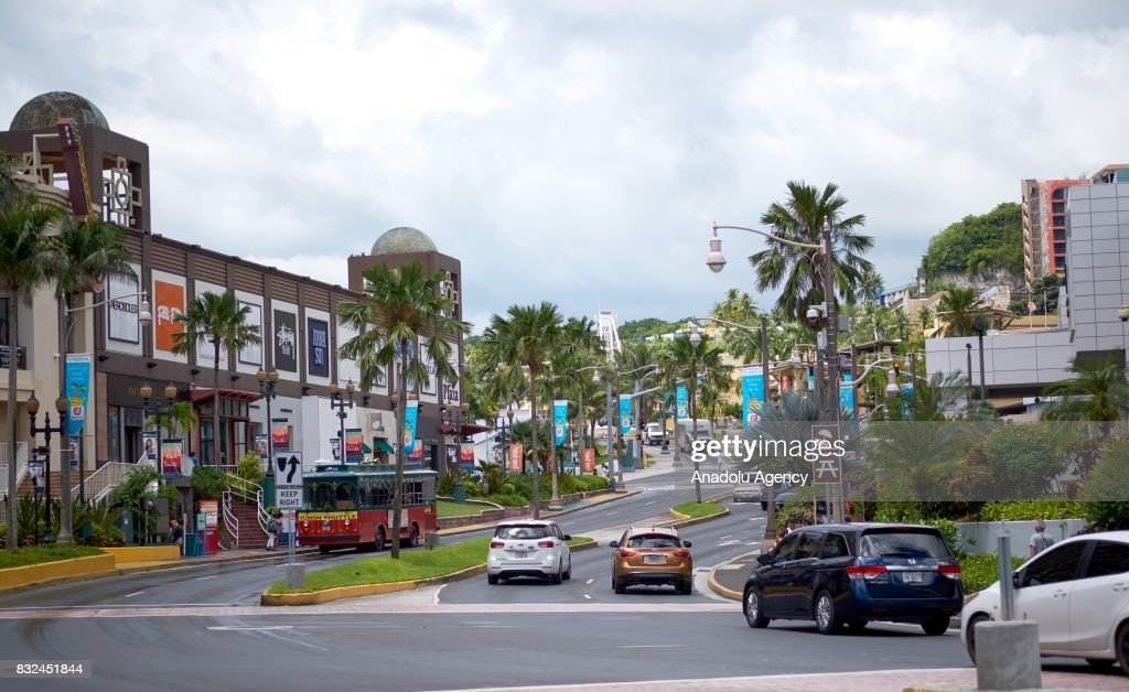 Cars are seen on a road in Tumon, Guam on August 16, 2017. With the threat of missiles from North Korea the number of tourists have dropped slightly, and while the rest of the world is uneasy, island residents continue on with their daily lives.