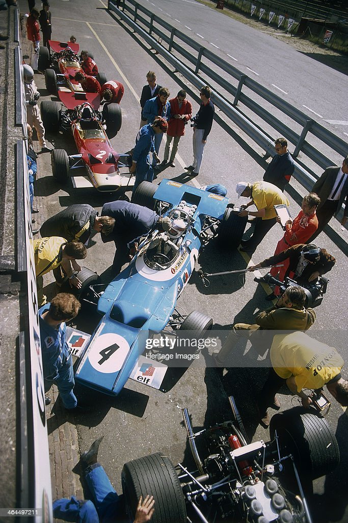 Cars at the British Grand Prix, Silverstone, Northamptonshire, 1969 ...