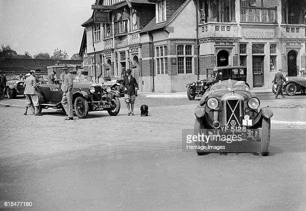 Cars at the North West London Motor Club Trial Osterley Park Hotel Isleworth 1 June 1929 Right Salmson 1087 cc Reg No YF5128 Event Entry No 1 Driver...